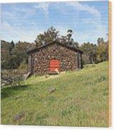 Jack London Stallion Barn 5d22100 Wood Print by Wingsdomain Art and Photography