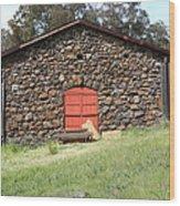 Jack London Stallion Barn 5d22101 Wood Print by Wingsdomain Art and Photography