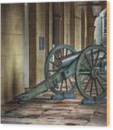 Jackson Square Cannon Wood Print by Brenda Bryant