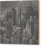 Jacob Goeth Into Egypt Wood Print by Gustave Dore