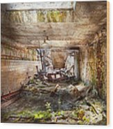Jail - Eastern State Penitentiary - The Mess Hall  Wood Print by Mike Savad