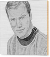 James Tiberius Kirk Wood Print by Thomas J Herring