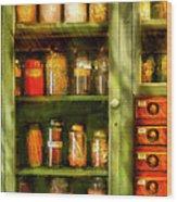 Jars - Ingredients II Wood Print by Mike Savad