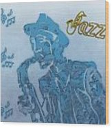 Jazz Saxophone Wood Print by Dan Sproul