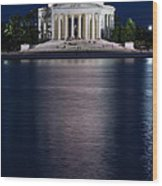 Jefferson Memorial Washington D C Wood Print by Steve Gadomski