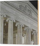 Jefferson Memorial - Washington Dc - 01131 Wood Print by DC Photographer