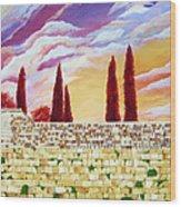 Jerusalem Prayers Wood Print by Dawnstarstudios