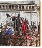 Jesus Christ And Roman Soldiers On Procession Wood Print by Artur Bogacki