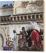 Jesus Christ And Roman Soldiers On Procession Platform Wood Print by Artur Bogacki