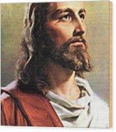 Jesus Christ Wood Print by Munir Alawi