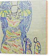 Jesus Guardian Angel Wood Print by Gloria Ssali