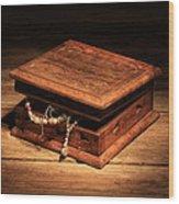 Jewellery Box Wood Print by Keith Hawley