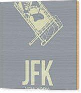 Jfk Airport Poster 1 Wood Print by Naxart Studio
