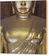 Jogyesa Buddha Wood Print by Jean Hall