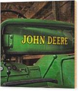 John Deere Tractor Wood Print by Susan Candelario