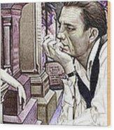 Johnny Cash-hurt Wood Print by Joshua Morton