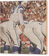 Johnny Unitas  Wood Print by Retro Images Archive