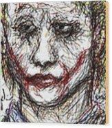 Joker - Interrogation Wood Print by Rachel Scott