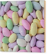 Jordan Almonds - Weddings - Candy Shop - Square Wood Print by Andee Design