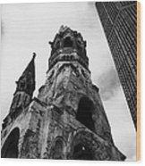 Kaiser Wilhelm Gedachtniskirche Memorial Church Next To The New Church Berlin Germany Wood Print by Joe Fox