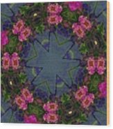 Kaleidoscope Lantana Wreath Wood Print by Cathy Lindsey