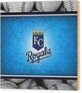 Kansas City Royals Wood Print by Joe Hamilton