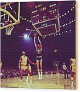 Kareem Jump Shot Wood Print by Retro Images Archive