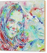 Kate Middleton Portrait.1 Wood Print by Fabrizio Cassetta