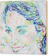Kate Middleton Portrait.2 Wood Print by Fabrizio Cassetta
