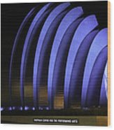Kauffman Center Of Performing Arts During All-star Week Wood Print by Raye Pond