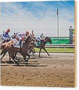 Keeneland Racing Wood Print by Keith Allen