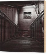 Keep Out Danger Of Drowning Wood Print by Bob Orsillo