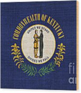 Kentucky State Flag Wood Print by Pixel Chimp