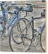 Kestrel And Specialized--ironman Rides Wood Print by David Bearden