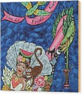 Kick Up Your Heels Frida Wood Print by Ilene Satala