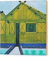 Kiddie House Wood Print by Lorna Maza
