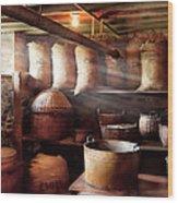 Kitchen - Storage - The Grain Cellar  Wood Print by Mike Savad