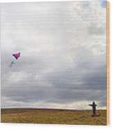 Kite Flying Wood Print by Bill Cannon
