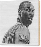 Kobe Bryant Wood Print by Don Medina