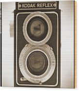 Kodak Reflex Camera Wood Print by Mike McGlothlen