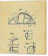 Komenda Vw Beetle Body Design Patent Art 1943 Wood Print by Ian Monk
