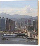 Kowloon In Hong Kong Wood Print by Lars Ruecker