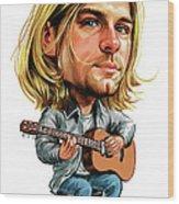 Kurt Cobain Wood Print by Art