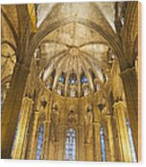 La Catedral Barcelona Cathedral Wood Print by Matthias Hauser
