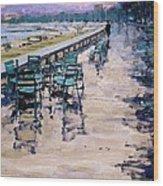 La Croisette Wood Print by Michael Swanson