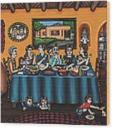 La Familia Or The Family Wood Print by Victoria De Almeida