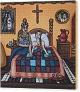 La Partera Or The Midwife Wood Print by Victoria De Almeida