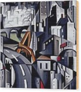La Rive Gauche Wood Print by Catherine Abel