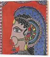 Lady In Ornaments Wood Print by Shakhenabat Kasana