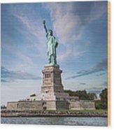 Lady Liberty Wood Print by Juli Scalzi